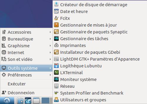 Lubuntu 12 menu système.png