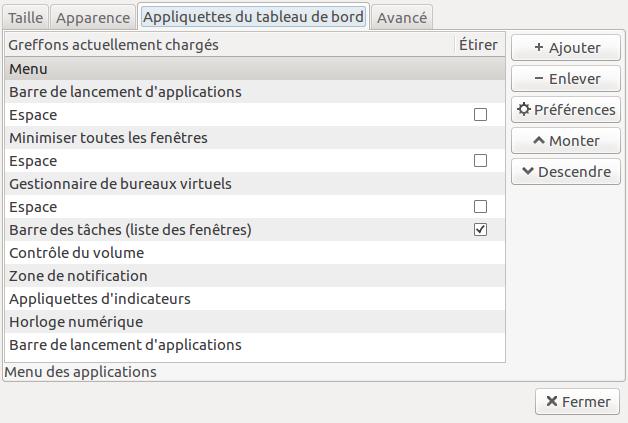Lubuntu 41 préférences tableau.png