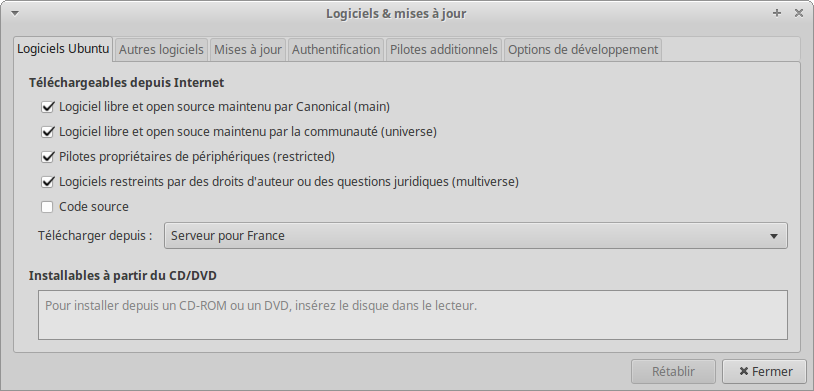 Lubuntu 20 synaptic 01 dépôts 01.png