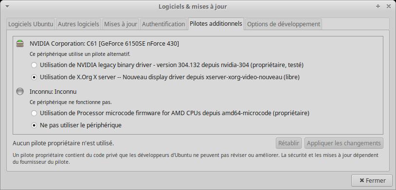 Xubuntu 58 Synaptic 03 pilotes additionnels.png