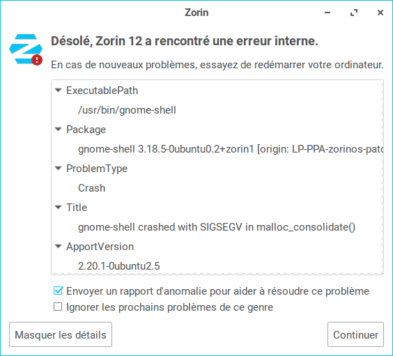 Zorin 12 erreur interne gnome-shell 02.png