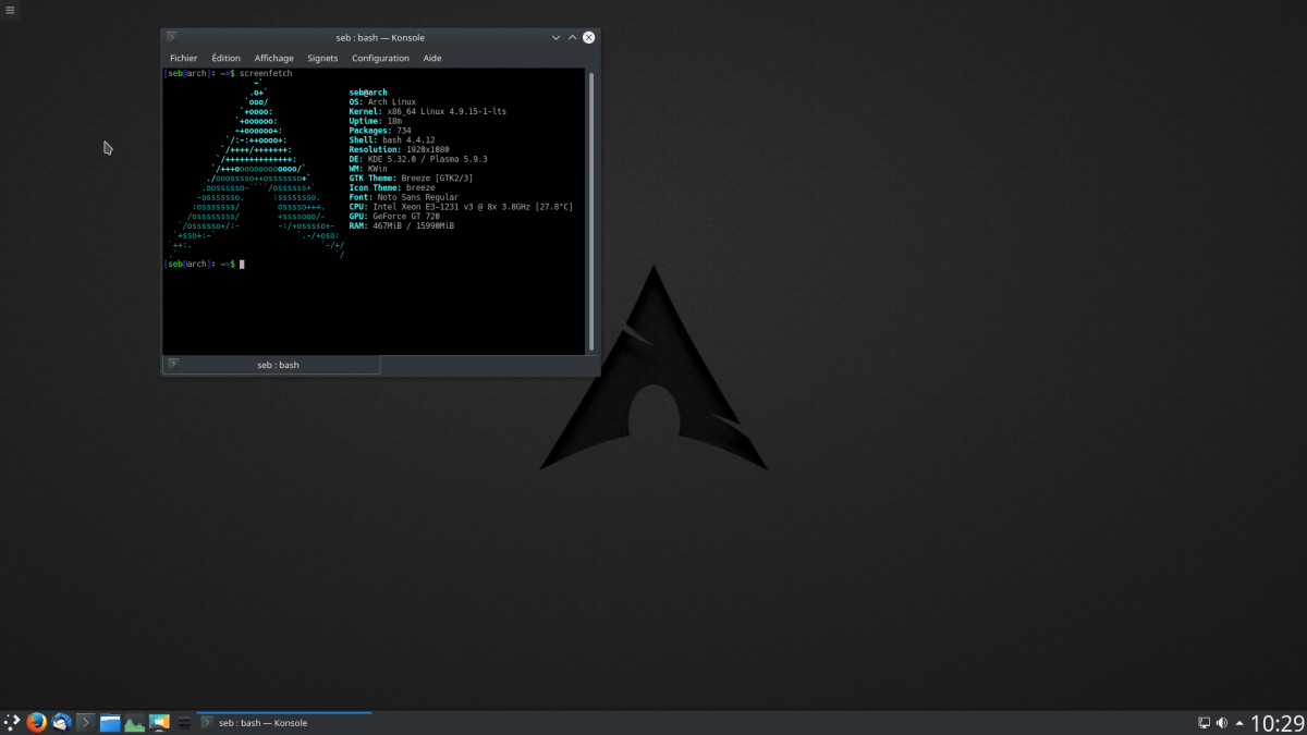 Arch Linux - Distributions - InfoMars fr