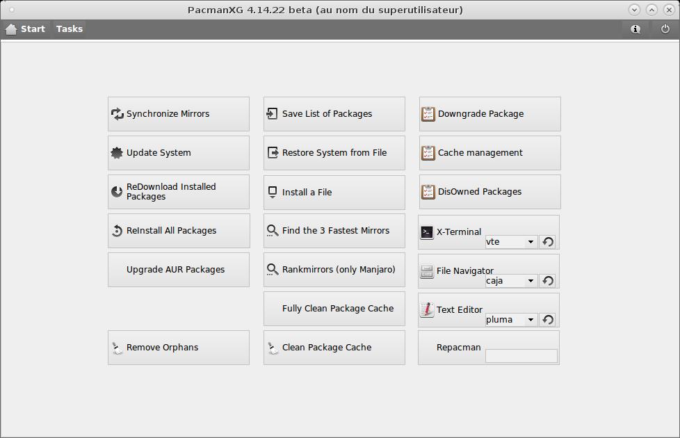 Antergos PacmanXG Tasks 01.png